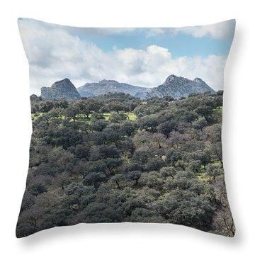 Sierra Ronda, Andalucia Spain Throw Pillow