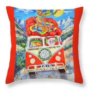 Throw Pillow featuring the painting Sierra Santa by Li Newton
