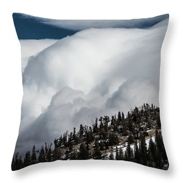 Sierra Stormclouds Throw Pillow
