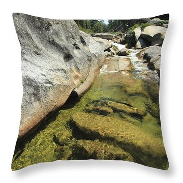 Throw Pillow featuring the photograph Sierra Summer Flow by Sean Sarsfield