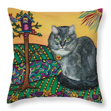 Sierra The Beloved Cat Throw Pillow