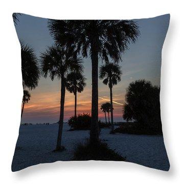 Siesta Beach Throw Pillow