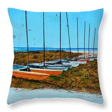Siesta Key Access #8 Catamarans Throw Pillow