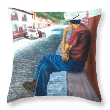 Siesta Time Throw Pillow by Susan DeLain