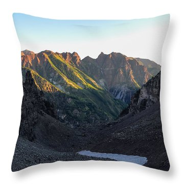Sievers Mountain Throw Pillow by Aaron Spong