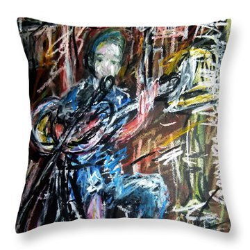 Singer Boy Throw Pillow