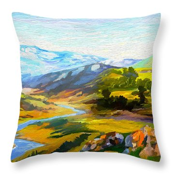 Sights And Sounds Throw Pillow