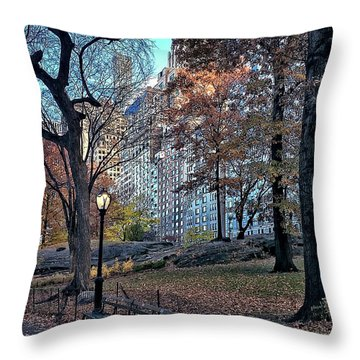 Throw Pillow featuring the photograph Sights In New York City - Central Park by Walt Foegelle