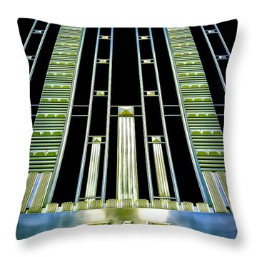 Throw Pillow featuring the photograph Sights In New York City - Classy Address by Walt Foegelle