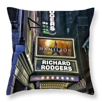 Sights In New York City - Hamilton Marquis Throw Pillow by Walt Foegelle