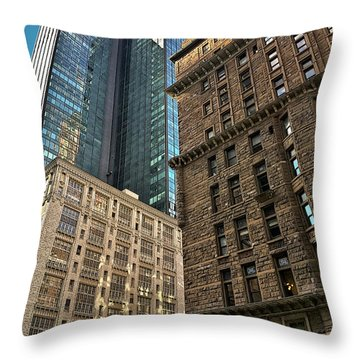 Throw Pillow featuring the photograph Sights In New York City - Old And New 2 by Walt Foegelle