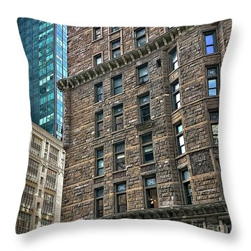 Throw Pillow featuring the photograph Sights In New York City - Old And New by Walt Foegelle