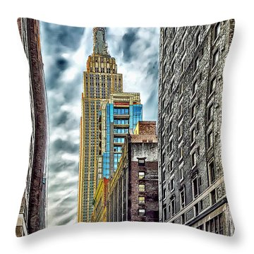 Throw Pillow featuring the photograph Sights In New York City - Skyscrapers 10 by Walt Foegelle