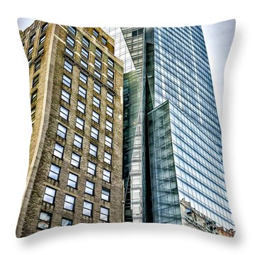 Throw Pillow featuring the photograph Sights In New York City - Skyscrapers by Walt Foegelle