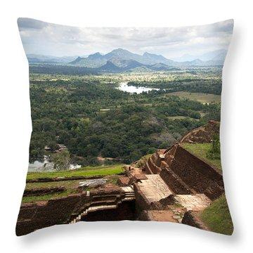 Sigiriya Ruins Throw Pillow by Jane Rix