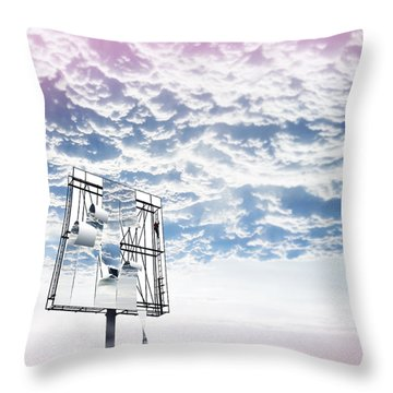 Sign In The Sky Throw Pillow