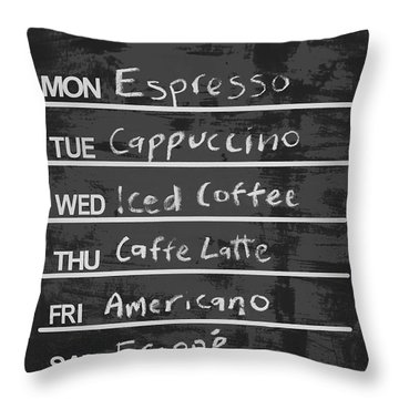 Sign Of A Coffee Lover Throw Pillow