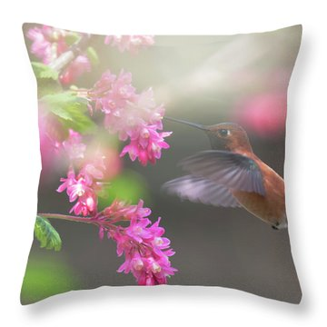 Sign Of Spring 2 Throw Pillow by Randy Hall