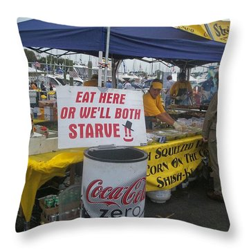 Sign Of The Times Throw Pillow by Kristine Nora