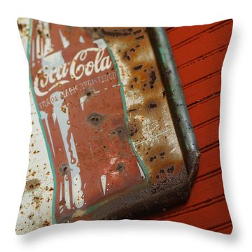 Sign Of The Times Throw Pillow by Michael McGowan