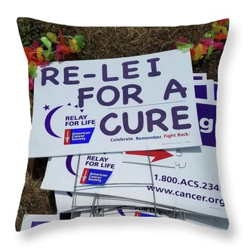 Sign One Throw Pillow
