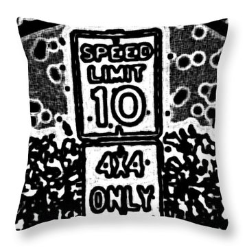 Sign To Elsewhere Throw Pillow
