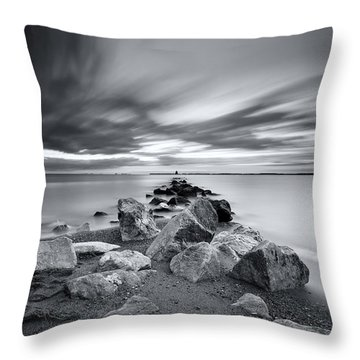Signature In Black And White Redux Throw Pillow by Edward Kreis
