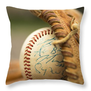Throw Pillow featuring the photograph Signed And Delivered by Erin Kohlenberg