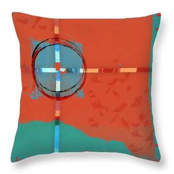 Signpost Up Ahead Throw Pillow