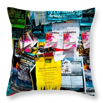 Throw Pillow featuring the photograph Signs Everywhere Signs by Colleen Coccia