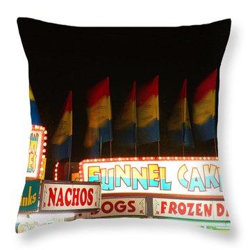 Signs Of Food At The Carnival Throw Pillow by James BO  Insogna