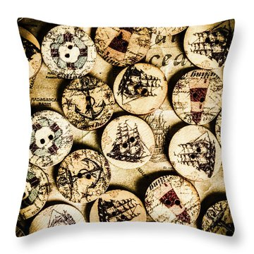 Signs Of Seafaring Throw Pillow