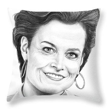 Sigourney Weaver Throw Pillow by Murphy Elliott