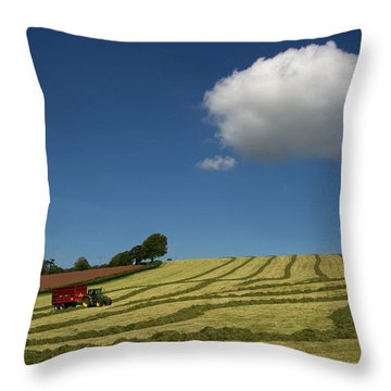 Silage Making  Throw Pillow