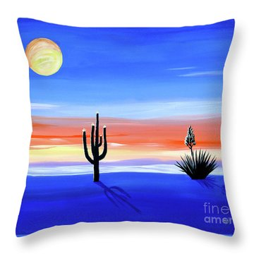 Throw Pillow featuring the painting Silellnt Shadows by Phyllis Kaltenbach