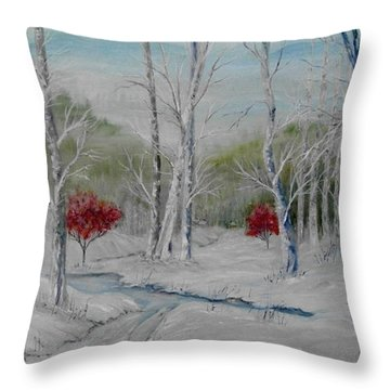 Silence Throw Pillow by Ben Kiger