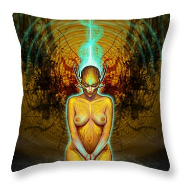 Silence Is Golden Throw Pillow by Tony Koehl