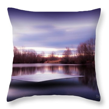 Silence Lake  Throw Pillow