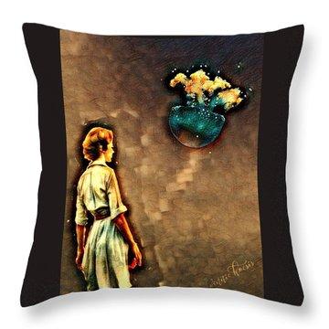 Silence Must Be Heard Throw Pillow by Vennie Kocsis
