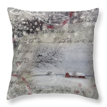 Silence Throw Pillow by Nadine Berg