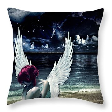 Silence Of An Angel Throw Pillow by Mo T