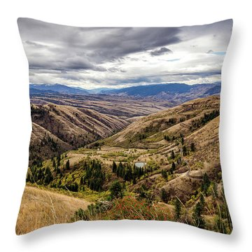 Silence Of Whitebird Canyon Idaho Journey Landscape Photography By Kaylyn Franks  Throw Pillow