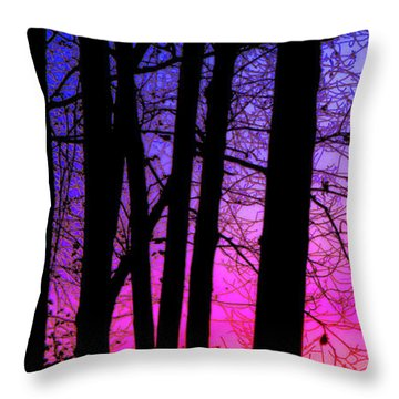 Tall Skinny Trees Throw Pillows Fine Art America New Long Skinny Decorative Pillows