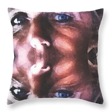 Silenced Throw Pillow
