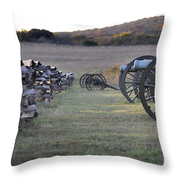 Throw Pillow featuring the photograph Silent Battlefield by Nava Thompson
