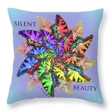 Silent Beauty Throw Pillow