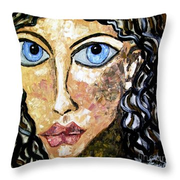 Silent Blue  Throw Pillow