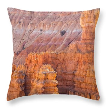 Throw Pillow featuring the photograph Silent City Glow by Patricia Davidson