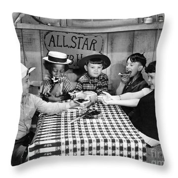 Silent Film: Little Rascals Throw Pillow