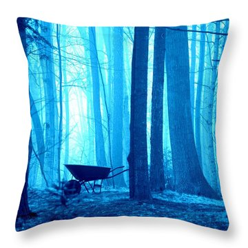 Silent Forest Throw Pillow
